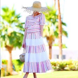 J Crew French Creek Mixy Stripe Skirt